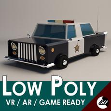 LowPoly-PoliceCar 3D Model