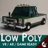 Low-Poly Cartoon Pickup Truck 3D Model