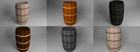 Pack of Barrels 3D Model