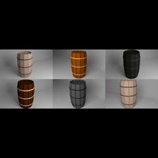 Pack of Barrels 3D Model
