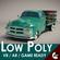 Low-Poly Cartoon Vintage Pickup 3D Model