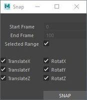Snap Script 2.0.0 for Maya (maya script)