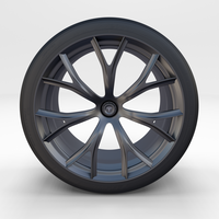 Tesla Roadster Rim 3D Model