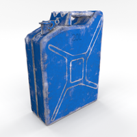 Jerry Can Low Poly 3 Worn PBR 3D Model