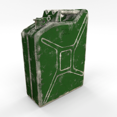Jerry Can Low Poly Worn PBR 3D Model