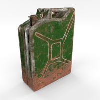 Jerry Can Low Poly Weathered PBR 3D Model