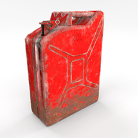Jerry Can Low Poly Weathered 2 PBR 3D Model