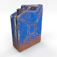 Jerry Can Low Poly Weathered 3 PBR 3D Model