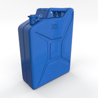 Jerry Can 3 PBR 3D Model