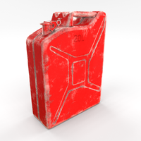 Jerry Can 2 Worn PBR 3D Model