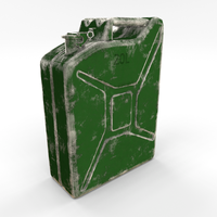 Jerry Can Worn PBR 3D Model