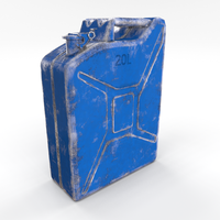 Jerry Can Worn 3 PBR 3D Model