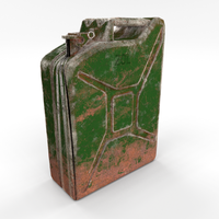 Jerry Can Weathered PBR 3D Model