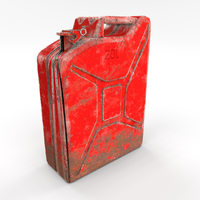 Jerry Can Weathered 2 PBR 3D Model