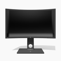Generic Monitor 3D Model