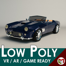 Low-Poly Cartoon Roadster 3D Model
