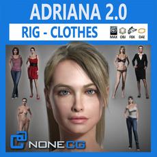Adriana 2.0 3D Model