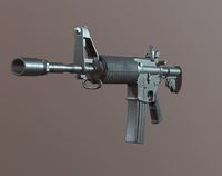 M4A1- Game Ready -Assaut Rifle 3D Model