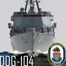PCU STERETT (DDG-104) Arleigh Burke Class Destroyer Flight IIA 3D Model