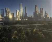 Freeway05_City 3D Model