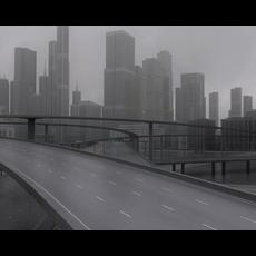 Freeway03_City 3D Model