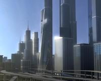 Freeway04_City 3D Model