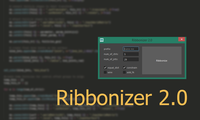 Ribbonizer - Create Ribbon On Any Surface 2.0.0 for Maya (maya script)