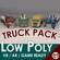 Low Poly Cartoon Truck Pack 01 3D Model