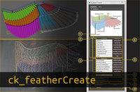 ck_featherCreate 1.1.0 for Maya (maya script)