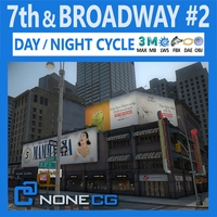 NYC Broadway - 7th Avenue Set 2 3D Model