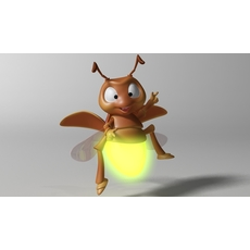 Cartoon Firefly RIGGED 3D Model