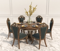 Dinning Table Set of Classic Design 2 3D Model