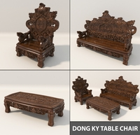 Dong Ky Table Chair Classic Design 3D Model