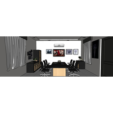 3d interior meeting room 3D Model