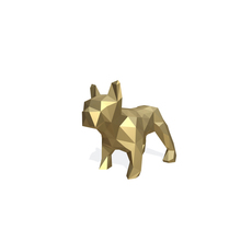 bulldog figure low poly 3D Model