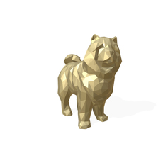 Chowchow dog figure low poly 3D Model