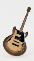 Highly detailed model of an Elguitar (Gibson type) 3D Model