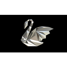 swan figure low poly 3D Model