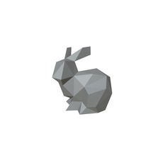 hare figure low poly 3D Model