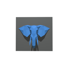 elephant figure low poly 3D Model