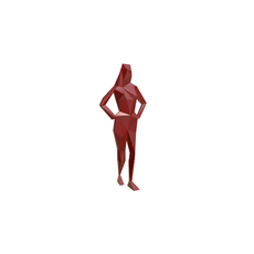girl figure low poly 3D Model