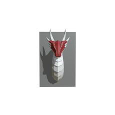 dragon figure low poly 3D Model