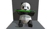 panda figure low poly 3D Model