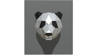 panda figure 2 low poly 3D Model