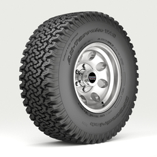 OFF ROAD WHEEL AND TIRE 3D Model