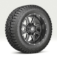 OFF ROAD WHEEL AND TIRE 7 3D Model