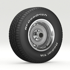 VINTAGE WHEEL AND TIRE 8 3D Model