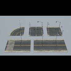 Road Pack 3D Model