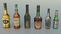 Pack Bottles 2 3D Model