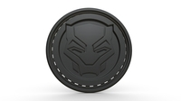 Black panther logo 3D Model